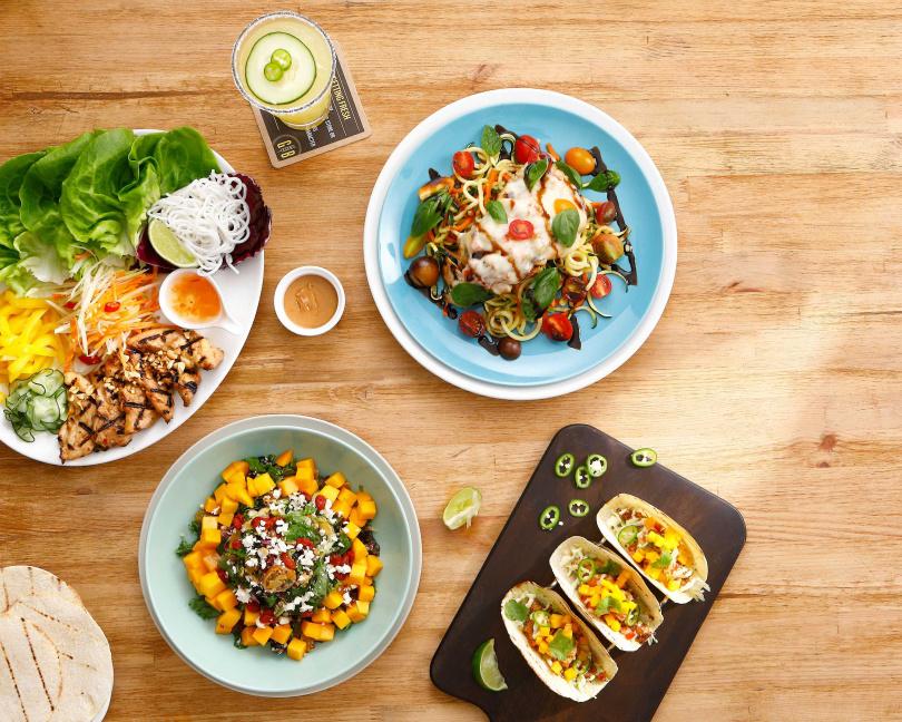 「超級食物夏季風味菜單」在視覺與口味上帶給消費者全新感受。(圖片提供/GB鮮釀餐廳)