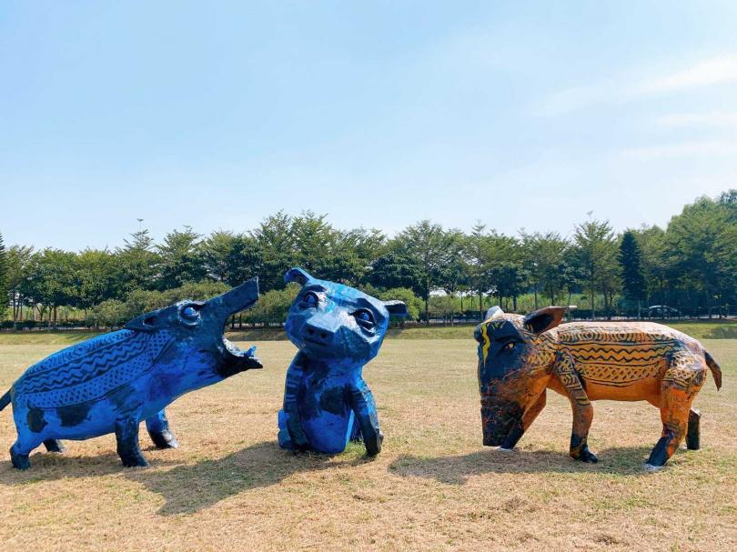 《南宮特有種》巨型野豬象徵台灣民族的隱含著堅忍與內斂。(攝影/官其蓁)