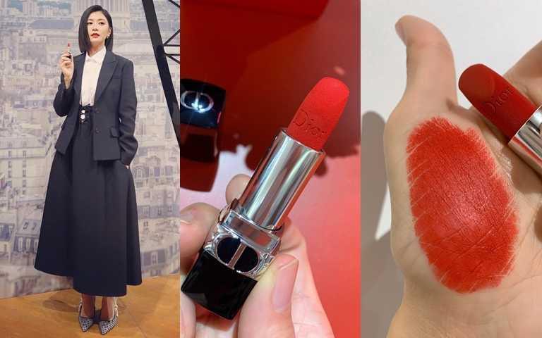 迪奧藍星唇膏 #999/1,300元  賈靜雯笑說只要擦上這支#999,女王氣場鐵定爆棚。(圖/吳雅鈴攝影、翻攝賈靜雯粉絲團)