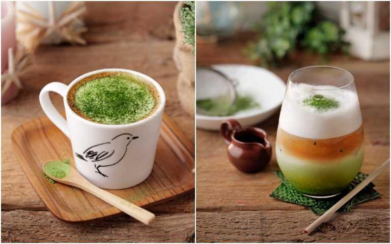 抹茶咖啡拿鐵。(圖/杏桃鬆餅屋提供)