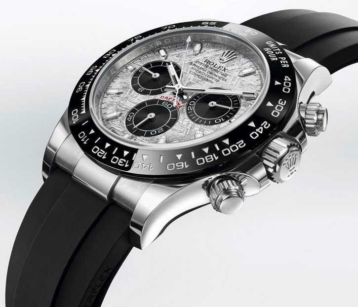 ROLEX「Oyster Perpetual Cosmograph Daytona」蠔式恒動宇宙計型迪通拿腕錶,40mm,18K白金錶殼,4130型自動上鏈機芯╱1,132,500元。(圖╱ROLEX提供)