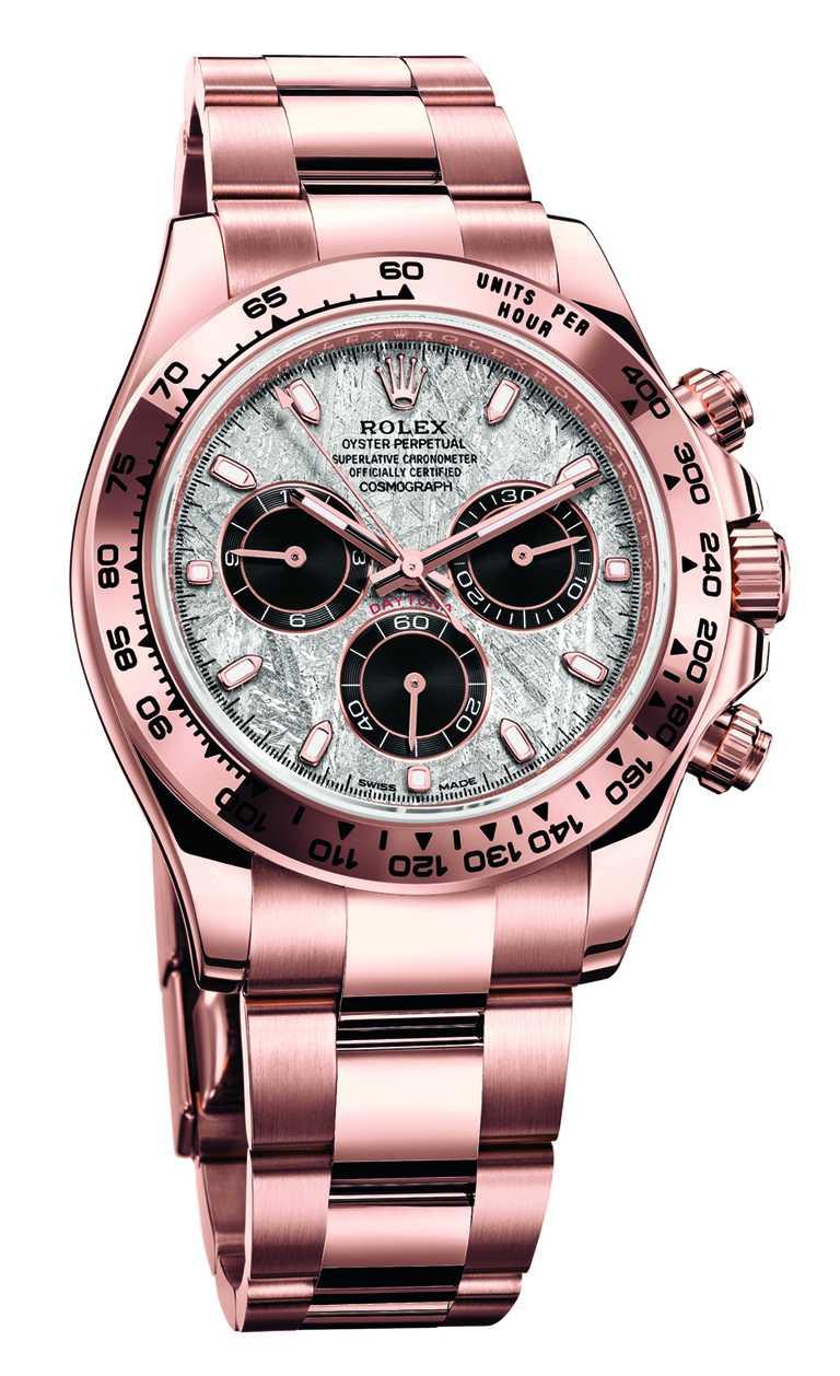 ROLEX「Oyster Perpetual Cosmograph Daytona」蠔式恒動宇宙計型迪通拿腕錶,40mm,18K永恒玫瑰金錶殼,4130型自動上鏈機芯╱1,452,500元。(圖╱ROLEX提供)
