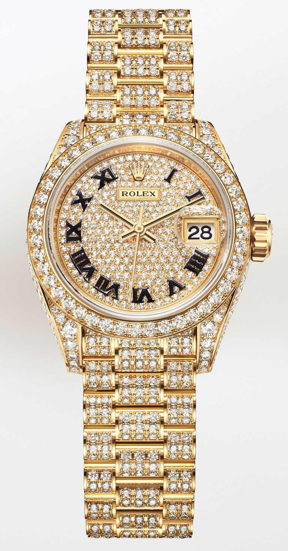 ROLEX「Oyster Perpetual Lady-Datejust」蠔式恒動女裝日誌型腕錶,28mm,18K黃金錶殼,2236型自動上鏈機芯╱價格店洽。(圖╱ROLEX提供)