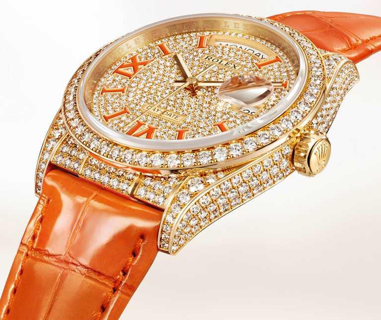 ROLEX「Oyster Perpetual Day-Date 36」蠔式恒動星期日曆型36腕錶,36mm,18K黃金錶殼,3255型自動上鏈機芯╱價格店洽。(圖╱ROLEX提供)