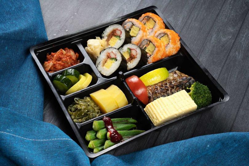 義大皇家酒店的柳町日本料理「日式壽司便當」。