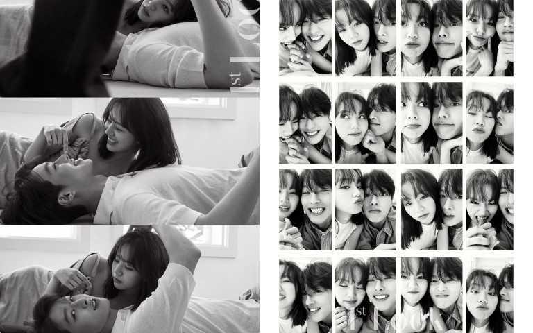 兩人在5月的時候一起拍攝韓國雜誌畫報,隱約透露了結局兩人生活的模樣(圖/翻攝自網路)