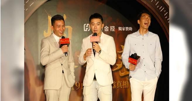 《灼人秘密》首映會導演趙德胤與演員施名帥、李李仁皆到場支持,預祝票房長紅。