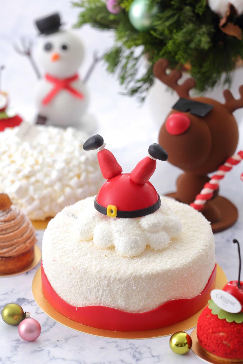 「聖誕老公公」造型蛋糕。(圖/晶華酒店點心房提供)