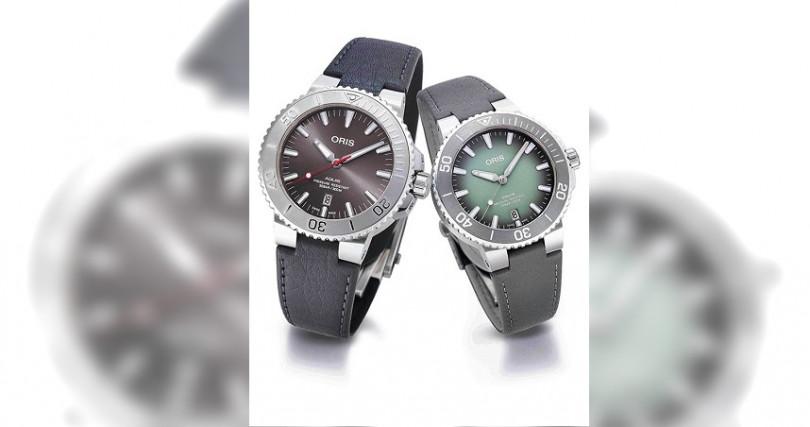 Aquis Date Relief錶徑:43.5mm定價:53,000元(左)Aquis Date錶徑:39.50mm定價:53,000元(右)