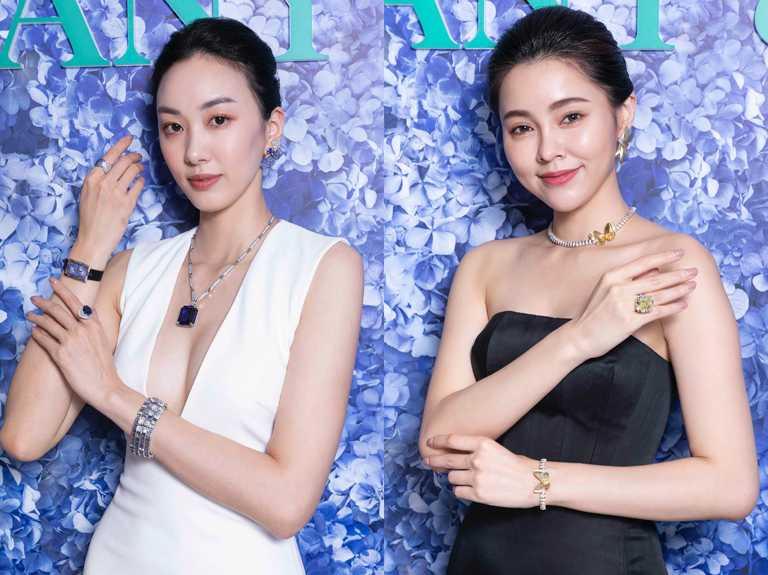 模特兒演繹Tiffany & Co.「Tiffany Jewel Box」高級珠寶系列作品。(圖╱Tiffany & Co.提供)