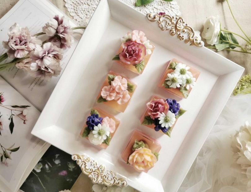 moni sweets—花舞晶凍韓式涼菓子。(圖/Global Mall提供)