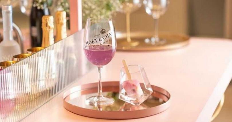 冰品香檳調酒-Moët French 75 酩悅香檳莓果葡萄柚冰棒調酒。