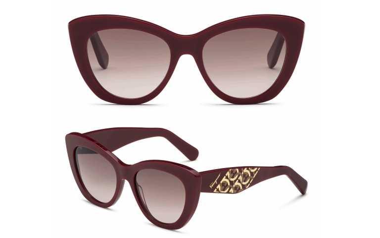 Salvatore Ferragamo Responsible Eyewear Collection酒紅色太陽眼鏡/12,500元(圖/品牌提供)