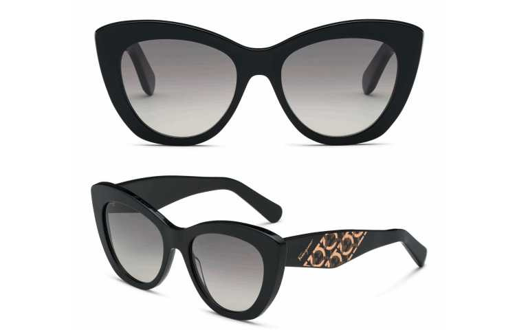 Salvatore Ferragamo Responsible Eyewear Collection黑色太陽眼鏡/12,500元(圖/品牌提供)