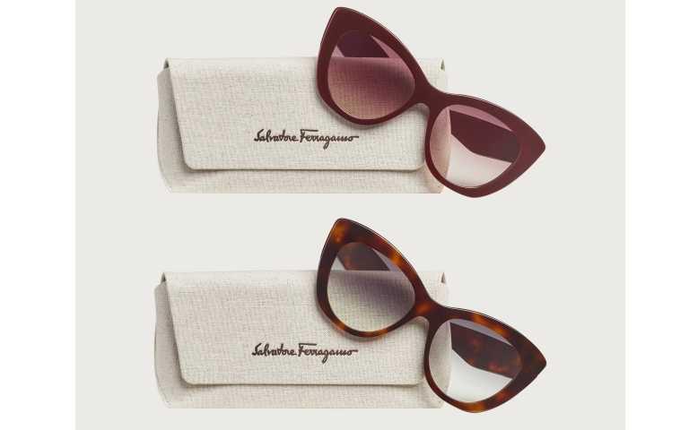 Salvatore Ferragamo Responsible Eyewear Collection酒紅色、玳瑁色太陽眼鏡/12,500元(圖/品牌提供)
