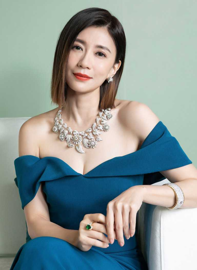 戲劇天后賈靜雯,優雅出席TIFFANY & CO.「2021 Jean Schlumberger」高級珠寶展。(圖╱TIFFANY & CO.提供)
