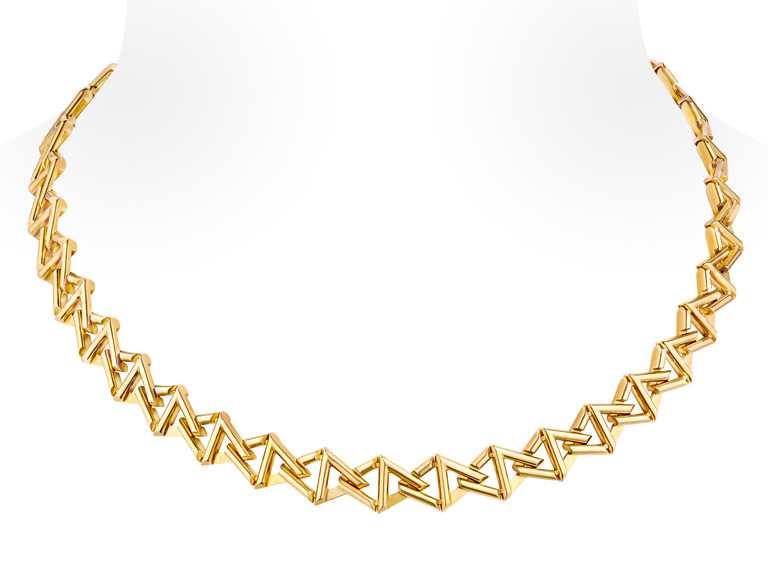 LOUIS VUITTON「LV Volt」系列,Curb Chain黃金項鍊╱705,000。(圖╱LV提供)