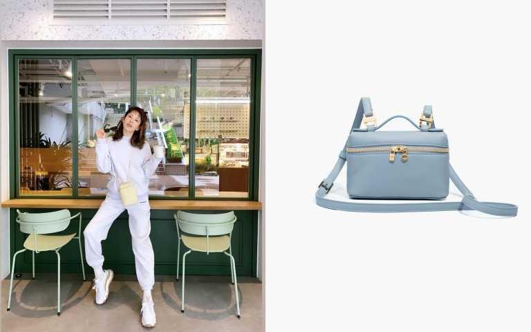 Loro Piana_Extra Pocket Bag迷你肩背包(天空藍)/ 50,000元(圖/ig、品牌提供)