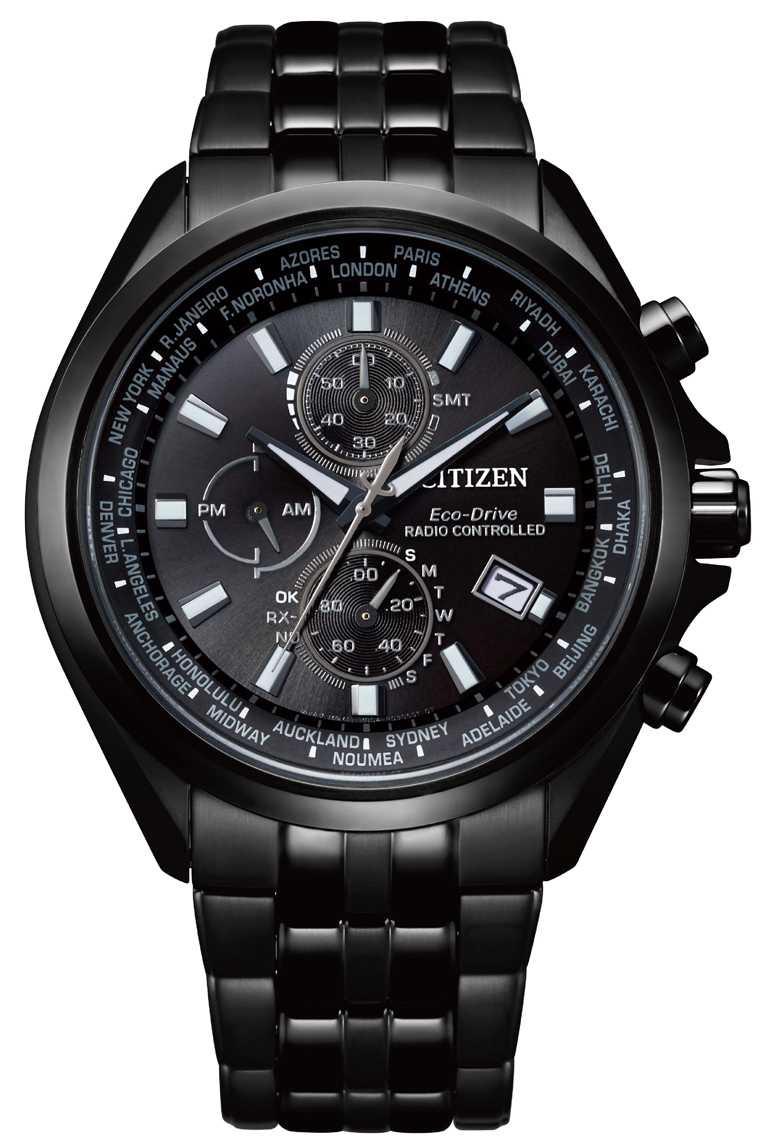 CITIZEN「光動能全球電波」腕錶,亞洲限定款(型號AT8205-83E)╱不鏽鋼錶殼,44mm,28,800元。(圖╱CITIZEN提供)
