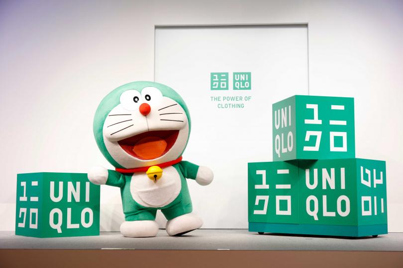 「哆啦A夢」表示:「大家好。我是換上綠色新裝的哆啦A夢!作為UNIQLO全球永續發展大使,希望大家齊心協力,創造更加光明的未來!將與大家共同努力,讓全世界的人們更加關注我們創造的美好未來!」(圖/品牌提供)