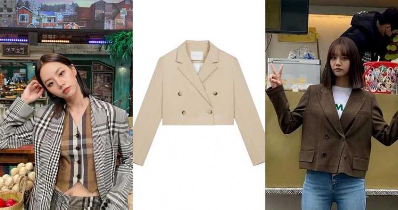 styletc小編推薦:Maje_駝色短版西裝外套/12,750元(圖/惠利ig、品牌提供)
