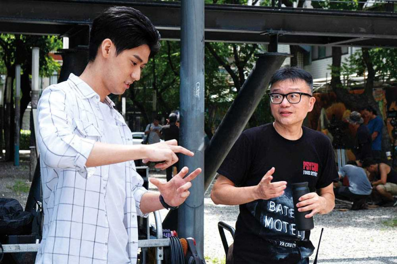 導演莊景燊在拍攝過程給予的鼓勵,讓李玉璽減輕不少壓力。(圖/東森電視提供)