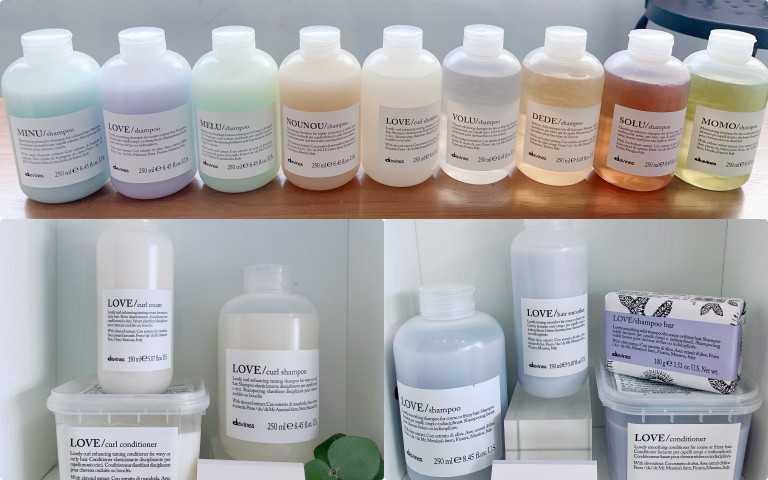地中海天堂頂級護髮共有九大系列,每一系列皆有洗、護髮商品:(1)乾燥髮質適用的MOMO甘露水潤系列(2)所有髮質適用的DEDE四季活力系列(3)毛躁/粗硬髮質適用的LOVE甜愛柔潤系列(4)細軟髮質適用的VOLU羽露輕柔系列(5)燙後髮質適用的NOU NOU暖暖彈力系列,主(6)染後髮質適用的MINU霓霧亮色系列(7)捲髮適用的LOVE甜愛捲俏系列(8)長髮/受損髮質適用的MELU魔豆防護系列(9)油性髮質適用的SOLU輕爽深層系列。(圖/黃筱婷攝影)