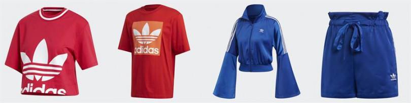 投入一件特色單品就是完成獨特時尚的關鍵。尤其在小細節上玩味,刻意錯置的LOGO、色塊堆疊、特殊的水袖設計以及絲滑材質,大膽用色與小巧思形成對比。由左至右依序為adidas Originals Bellista 短版上衣(女款)1,490元、adidas Originals adicolor 短袖上衣(男款)1,490元、adidas Originals Bellista 造型外套(女款)3,090元、adidas Originals Bellista 短褲(女款)1,890元。(圖片/adidas提供)