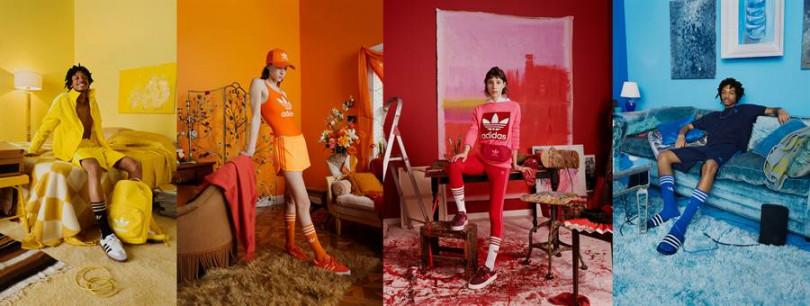 adidas Originals adicolor系列主打高彩度單品,大膽玩色。