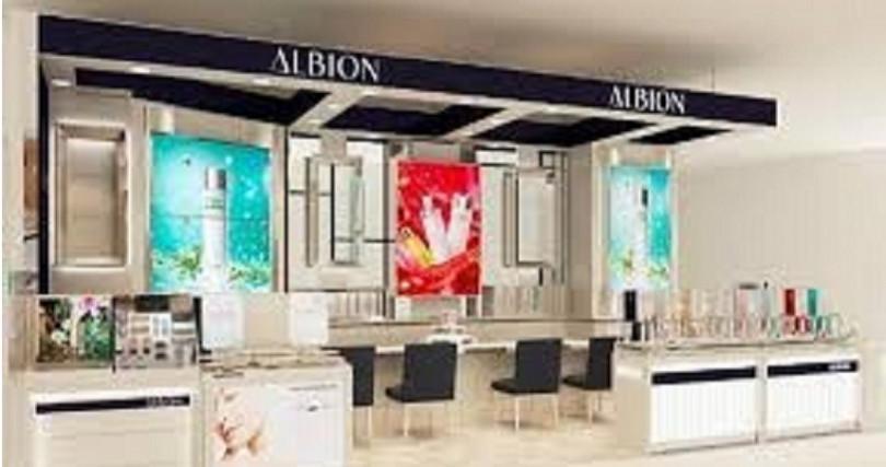ALBION全台灣最大坪數櫃點坐落在台南新光三越(圖/IG)