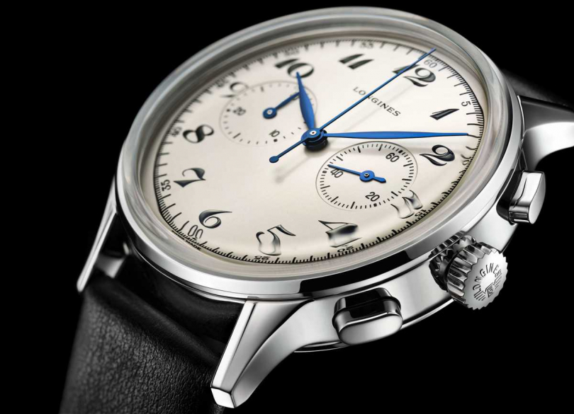 Longines「Heritage Classic Chronograph 1946」計時碼錶╱98,600元。(圖╱Longines提供)