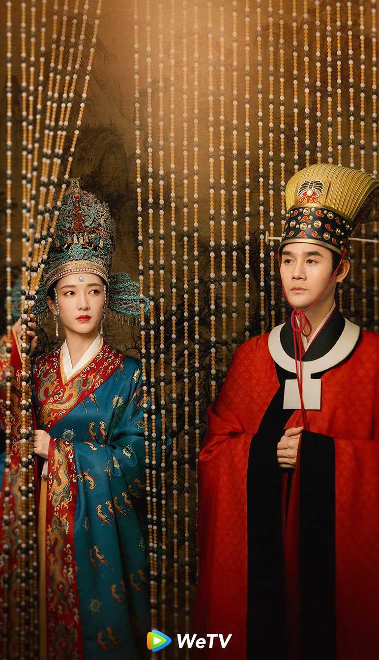 王凱(右)與江疏影在《清平樂》中有感情戲。(圖/WeTV)