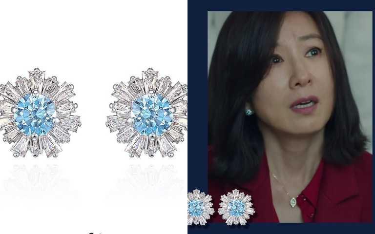 SWAROVSKI SUNSHINE穿孔耳環/$4,490元。(圖/ SWAROVSKIKOREA IG)