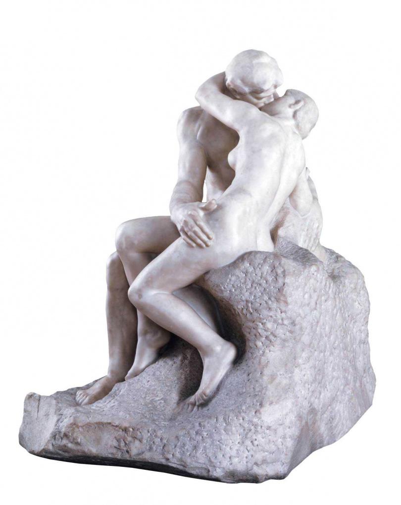其中一樁謀殺案的受害者,被擺設成羅丹的藝術作品《吻》。(圖/甲上娛樂提供)