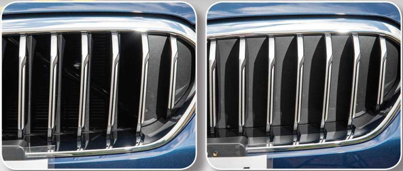 配備主動式進氣調節水箱護罩,引擎需散熱時會自動開啟扇葉,以利空氣流入。(圖/張文玠攝)