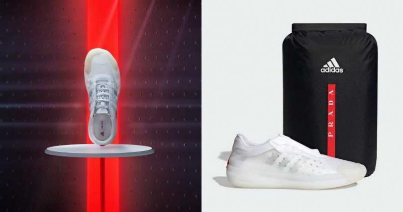 以高性能再生材質搭配疏水性材質所製成的鞋面,不僅靈活、透氣更具防水性。A+P LUNA ROSSA 21運動鞋包裝於簡潔設計的聯名鞋盒,內盒附有一個訂製的防水鞋袋。(圖/品牌提供)