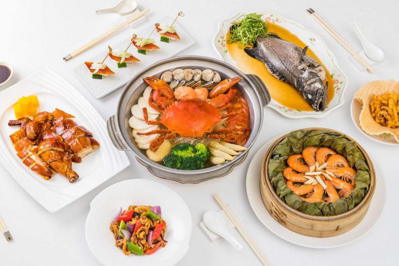 九華味海陸四人分享餐。(圖/華泰王子大飯店提供)