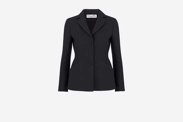 Bar Jacket 黑色單排釦束腰夾克。
