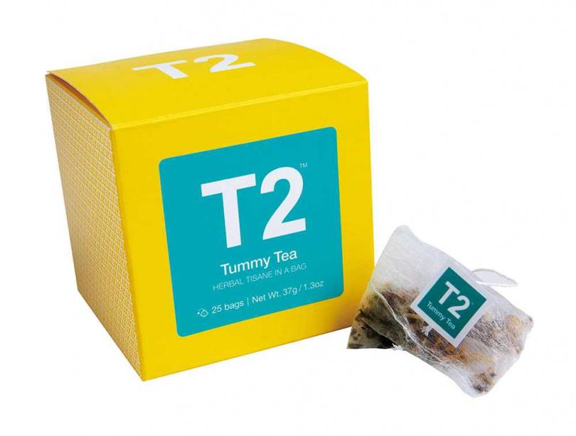 T2 Tummy Tea/約300元。T2是澳洲品牌,有多種口味,當陳芳語想念家鄉味時,就會請人代購。最近她腸胃不好,偶爾暈眩、想吐,便較常飲用Tummy Tea。(圖/莊立人攝)