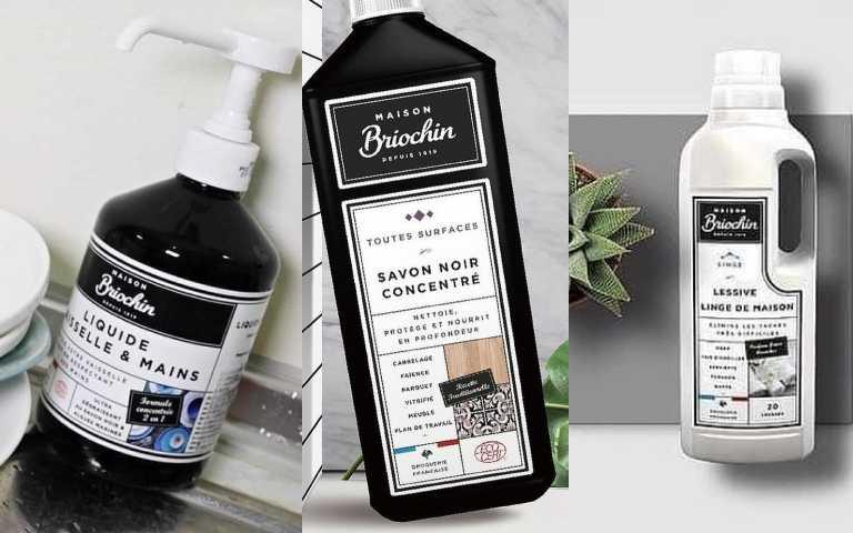 Maison Briochin 護手洗碗精500ml /420元;Maison Briochin 多效清潔醋 750ml /450元;Maison Briochin 天然柔嫩洗衣精1L/750元(圖/品牌提供)