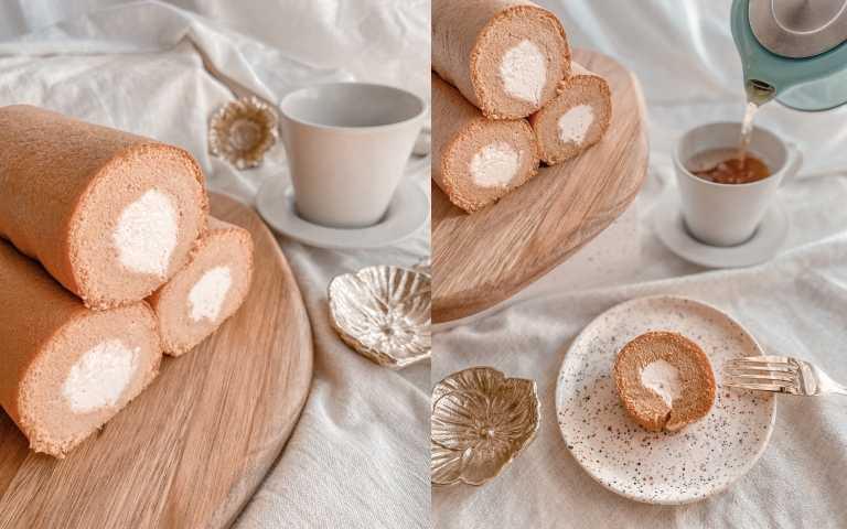 SUGARbISTRO所有的蛋糕都使⽤有機棕欄糖製作,讓蛋糕體更具有吸⽔性, 口感較⼀般市售蛋糕更為香嫩濕潤。⽣乳茶三卷,烏龍青:內含雲霧烏龍茶口味、棕櫚糖原味、⽂山茉青茶口味 各1 ・ ⽣乳茶三卷,紅泰奶:內含丹頂滇紅茶口味、棕櫚糖原味、⼿標泰奶茶口味 各1,80g/條,3 ⼊/盒(圖/品牌提供)
