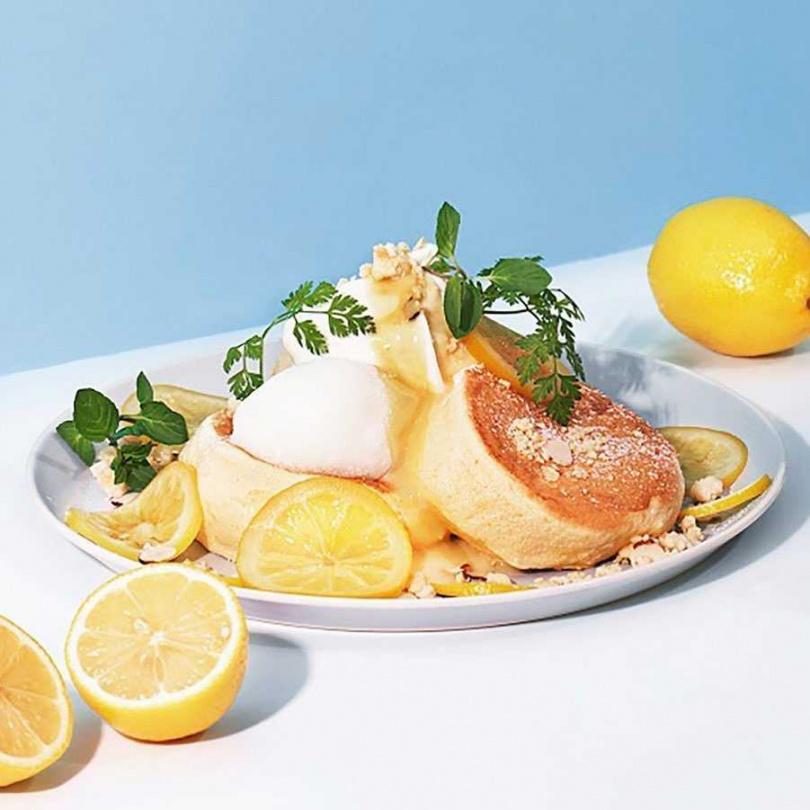 檸檬乳酪舒芙蕾鬆餅。(圖/Flipper's 奇蹟的舒芙蕾鬆餅提供)