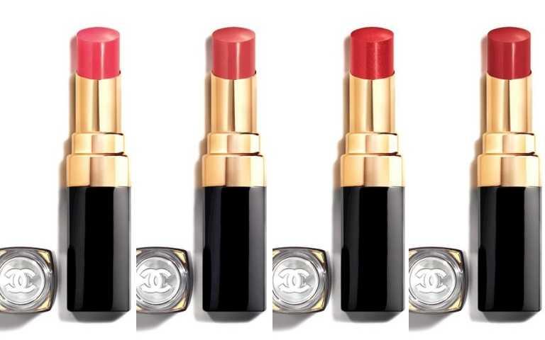 CHANEL香奈兒COCO晶亮水唇膏(左起:#118、#144、#148、#152)/1,280元(圖/品牌提供)