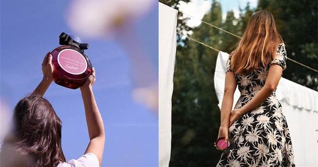 外觀法式感的瓶身設計及瓶頸上的大蝴蝶結,可愛的女人味包裝超值得收藏。【圖/rochasofficial】