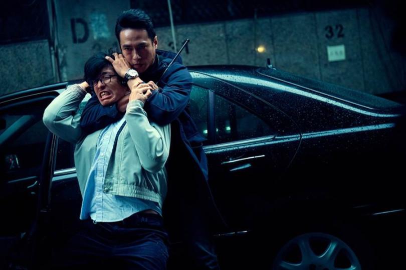 莊凱勛在片中一鏡到底的劇情中,有打嫌犯的畫面。(圖/華映提供)