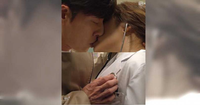朴海鎮與趙寶兒上演聽診器之吻。(圖/愛奇藝台灣站提供)