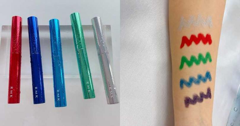 超好上色的眼影筆,高彩度的顏色讓你盡情玩色。深邃感寶藍色01、丹寧色鐵藍色02、潮流綠03、火熱紅04、閃耀銀05。RMK活力繽紛眼影筆/1,100元(圖/品牌提供)