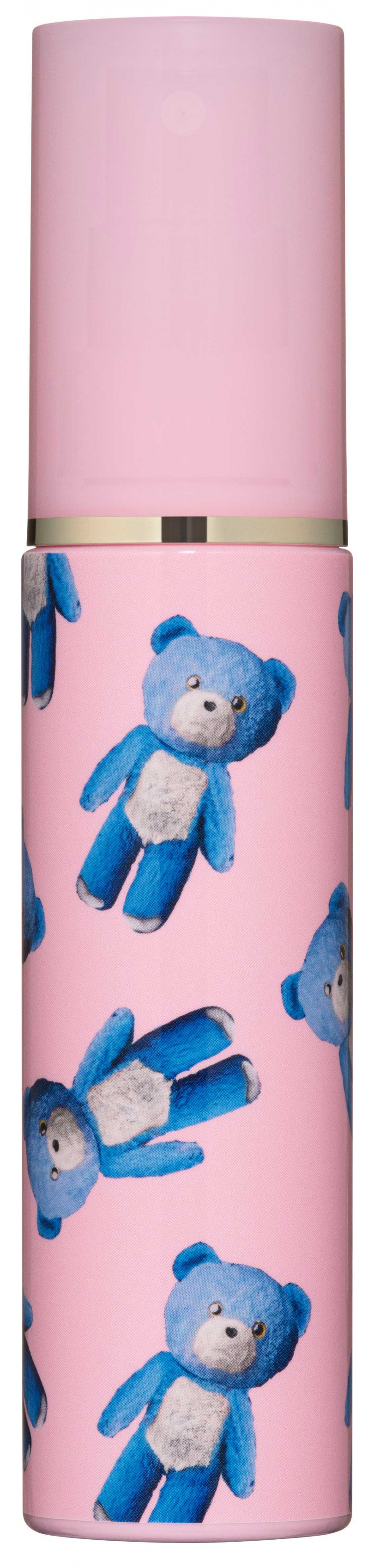 三款收藏盒:藍色熊熊限量收藏盒 & 領結啾啾粉紫貓收藏盒尺寸:W130 x D130 x H50 mm;花園小貓緞帶收藏盒尺寸:W160 × D160 × H60 mm。(右)PAUL & JOE藍色熊熊身體與頭髮噴霧60ml/500元(圖/品牌提供)