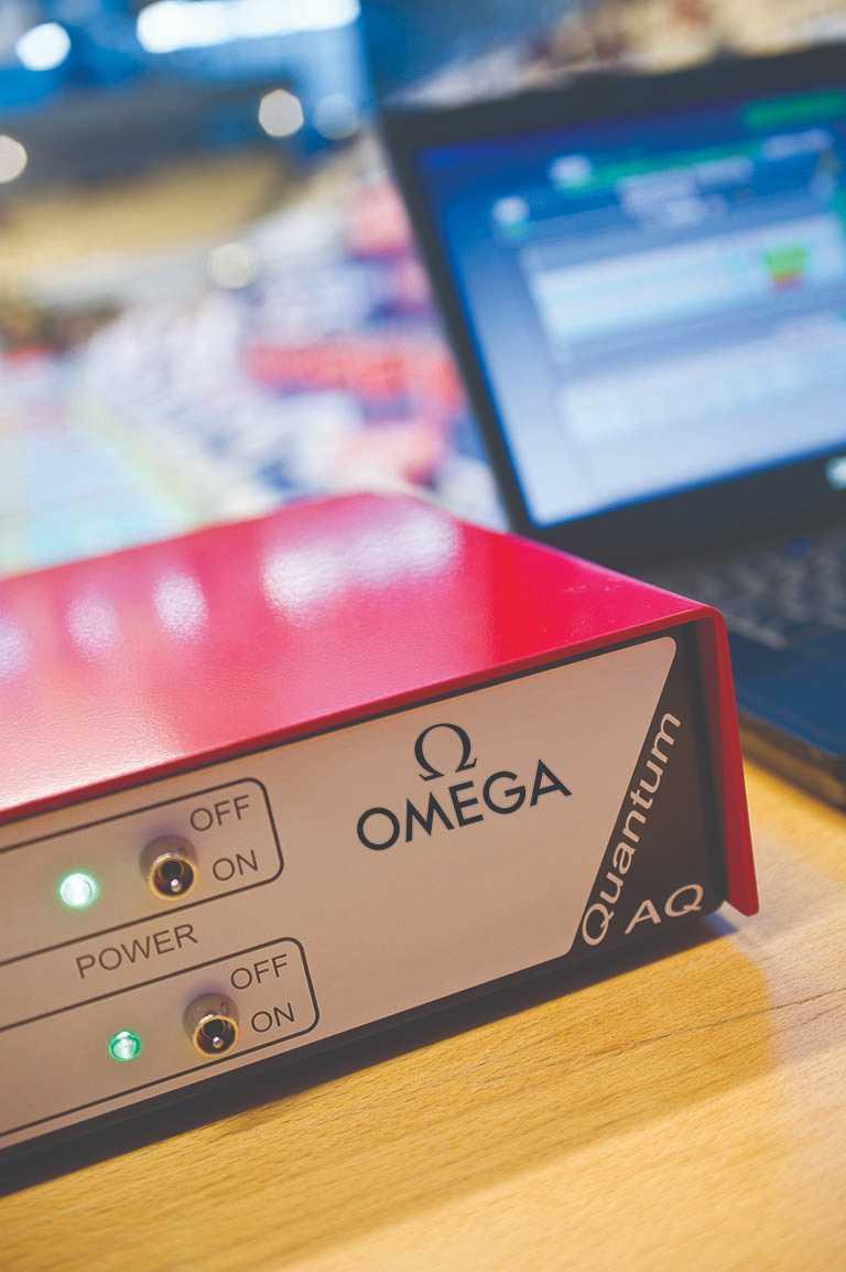 OMEGA量子計時器。(圖╱OMEGA提供)