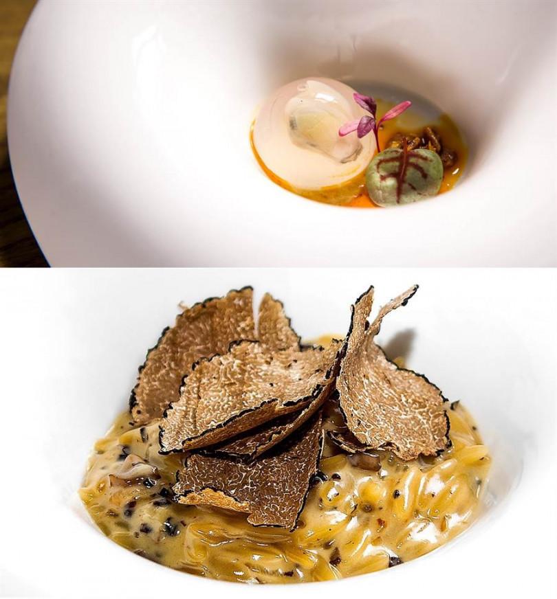 西班牙主廚創意料理餐廳「Hidden by DN 隱丹廚」台北米其林月特餐。(照片主辦提供)